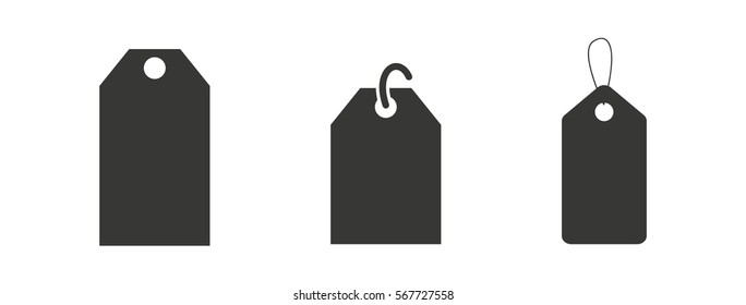 Label Price Tag Icon Pictogram Isolated Vector Set