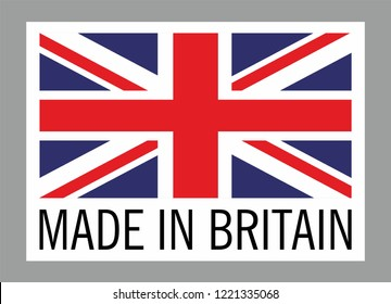 Label for products made in Britain.