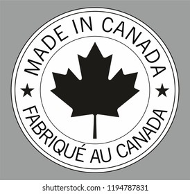 Label for products made in Canada.