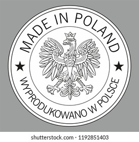 Label for products made in Poland.