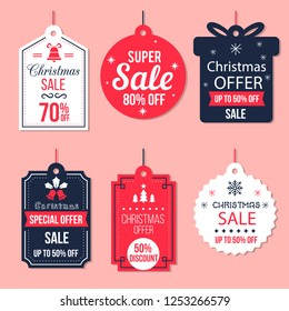 label sale Christmas collection.cute banner