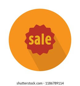 label sale icon. sale discount illustration - graphic price label. offer sale