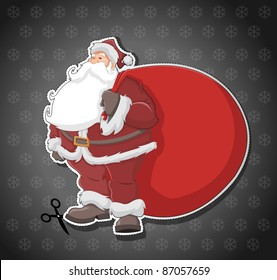 Label with Santa Claus