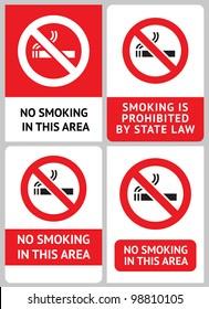 Label set No smoking