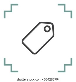 Label sign line vector icon. Tag vector icon. Price symbol