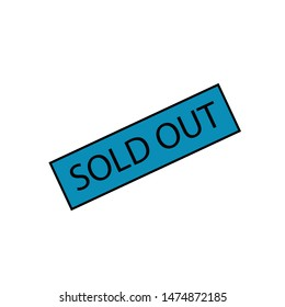 label sold out icon filled design