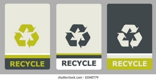 label tag design illustration vector recycle sticker symbol ecology