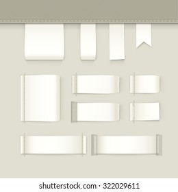 Label Tag Stitch Set Vector Isolated
