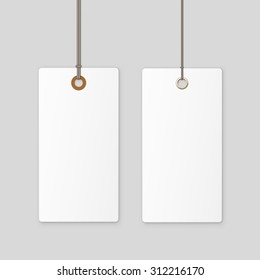Label Tag White Vector Isolated