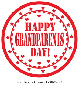Label  with text Happy Grandparents Day ,vector illustration