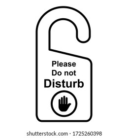 Label text please do not disturb icon in trendy outline style design. Vector illustration isolated on white background.