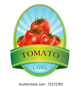label with tomato