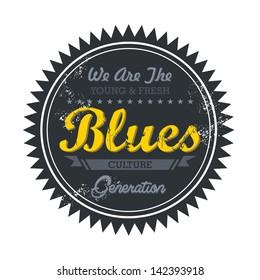 label vintage for blues music genre
