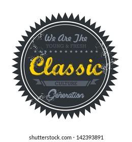 label vintage for classic music genre