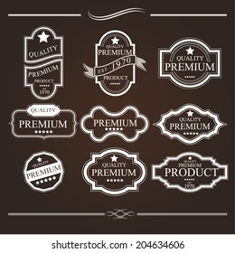 Label Vintage With Premium Quality Collection