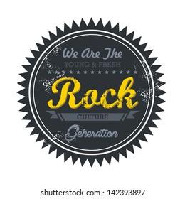 label vintage for rock music genre