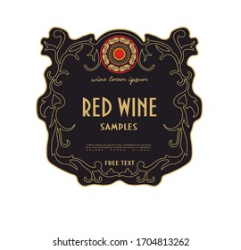 LABEL FOR WHITE AND RED CLASSIC WINE BOTTLES