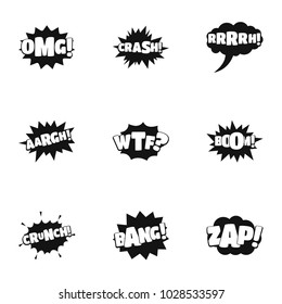 Labelling icons set. Simple set of 9 labelling vector icons for web isolated on white background