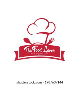 Labels and Badges set of Kitchen Cheif Logo design with beautiful spoon and fork