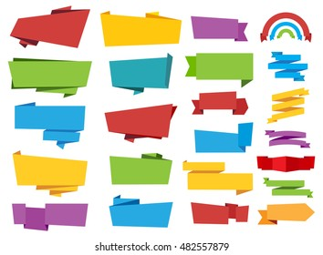 Labels Banners Ribbon Vector Tag