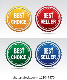 Labels- bestseller and best choice. Vector