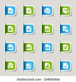 Labels - File format icons