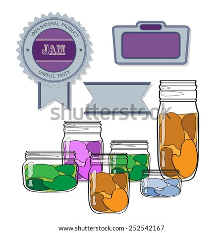 labels jars jam stock vector royalty free 252542167 shutterstock