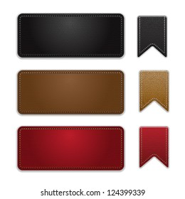 labels leather vector