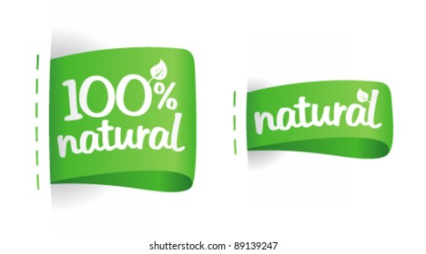 Labels for natural production.