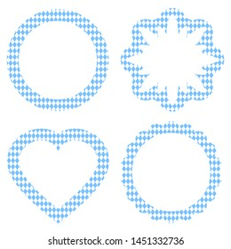 Labels Oktoberfest Different Shapes Pattern White And Light Blue