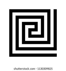 Labirinth greek symbol. Typical egyptian, assyrian and greek motives vector symbol. Greek key. Arabic geometric islamic art. Abstract geometric. Vector and illustration.
