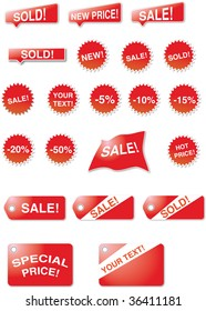 Lables and stars - Sales signs
