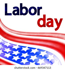 Labor day, abstract background, flag design for holidays, vector illustration