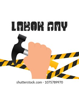 Labor day card with creative design vector