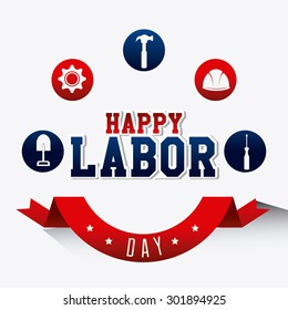 Labor day card design, vector illustration eps 10.