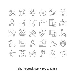 Labor Day. Collection of perfectly thin icons for web design, app, and the most modern projects. The kit of signs for category Holidays.