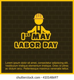 Labor Day logo. 1st May Happy Labor Day with typography creative artwork.