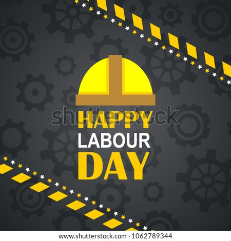 labor day logo poster banner brochure stock vector royalty free