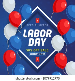 Labor Day Sale Banner Vector Background Design.