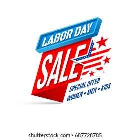 Labor Day Sale banner.Happy USA Labor Day Sale for Pomotion