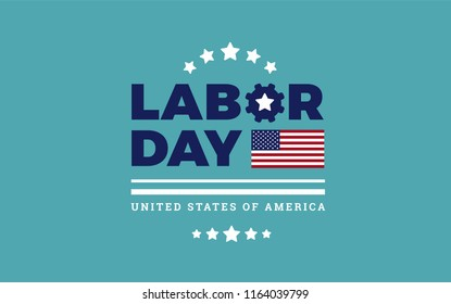 Labor Day Sale logo background USA - background, stars, stripes texture, the United States flag - labor day sale vector illustration