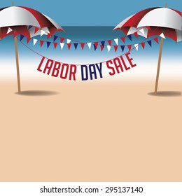 Labor Day sale marketing background. EPS 10 vector.