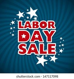 labor day sale over blue background vector illustration