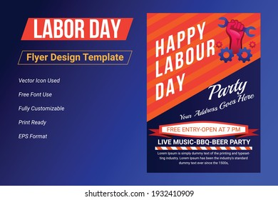 Labor day sale promotion advertising flyer, banner template. American labor day wallpaper. Labor Day Poster, voucher discount. Vector illustration.