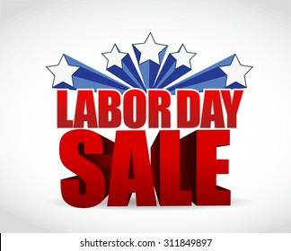 labor day sale sign illustration design graphic