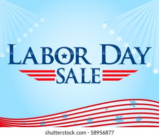 Labor day sale vector flyer