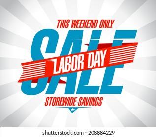 Labor day savings sale retro style design.