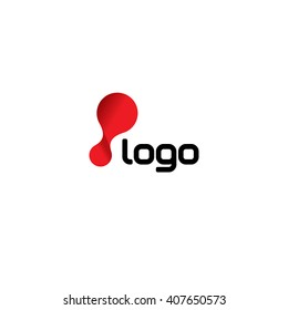 Laboratory chemistry flex logo template. Biology vector red circle genetics in movement icon set. Abstract molecular flexible logotype.
