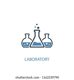 laboratory concept 2 colored icon. Simple blue element illustration. laboratory concept symbol design from Science set. Can be used for web and mobile UI/UX