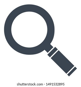 Laboratory equipment magnifying glass Isolated Glyph Vector Icon which can be easily modified resized or edited.